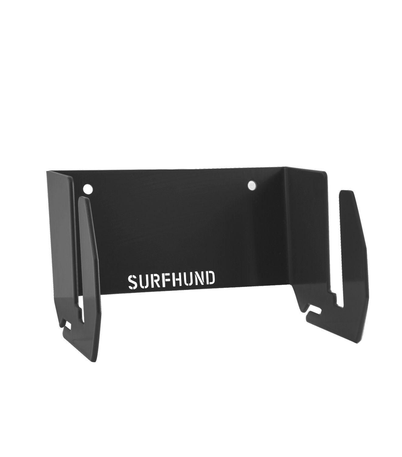 SURFHUND Soporte de pared multi vertical: para longboards skateboards y kiteboards negro