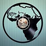North Africa Handmade Vinyl Record Wall Clock - Home Room wall decor - Gift ideas for friends, father and mother - Wild World Unique Art Design