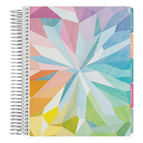 Erin Condren 12 - Month 2020 Coiled Life Planner 7x9 (January - December 2020) - Kaleidoscope Colorful, Vertical (Colorful Layout). Organizer with Monthly Calendar Tabs