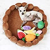 funny supply Pet Cushion Bed with Squeaky Toys Winter Plush Nest Kennel Lovely Tart Warm Comfortable Dog Mat Pad Cat Mat For Sale