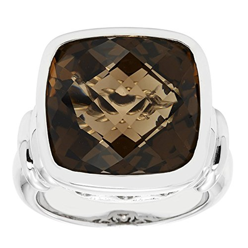 - Sterling Silver 16mm Cushion Ring
