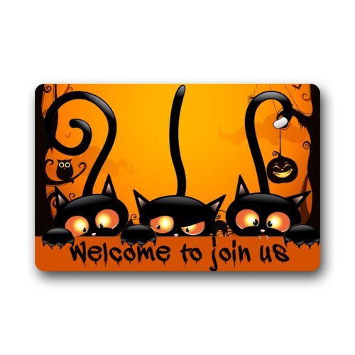 Welcome to join us / Halloween Party/ Funny Halloween Doormat/ Decorations Durable Machine-washable Indoor/outdoor Door Mat
