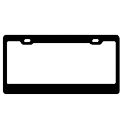 I/'D Rather Be Playing Roller Derby License Plate Frame Tag Holder