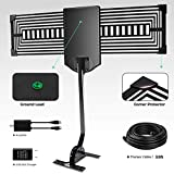 Upgraded OKAONE Amplified Outdoor 150 Miles HDTV Antenna - Digital Antenna Amplifier with RG6 Digital TV Antenna Multi-Directional Long Range Reception for 4K/FM/VHF/UHF/1080P Free Channels 33ft