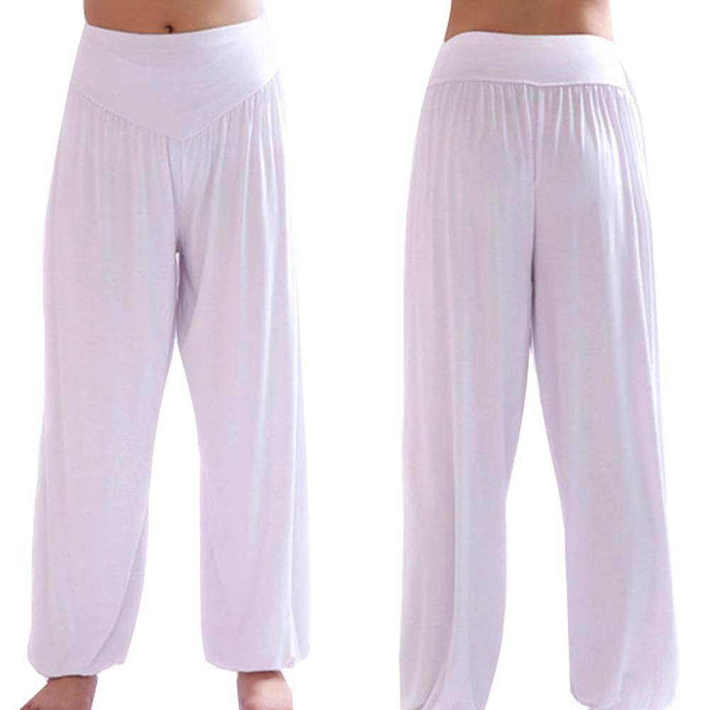 Color Solido Cintura Elastico Pantalon Moda Casual Slim Pantalones Para Deportes Yoga Pilates Tallas Grandes Mujer Pantalones Haren Pantalones
