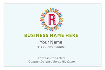 Amazon Design Your Own Personalised Business Cards Custom