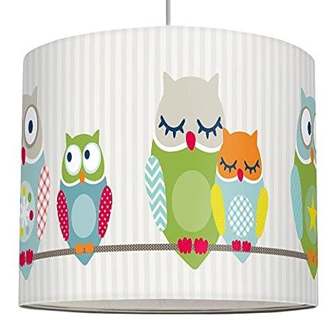 anna wand Lampenschirm SUMMER OWLS BOYS – Schirm für Kinder / Baby ...