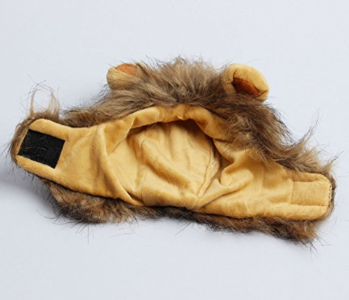 Cats Lion Mane Christmas Costumes Cat Hat Pet Lion Head Small Dogs by royalwise (Image #2)
