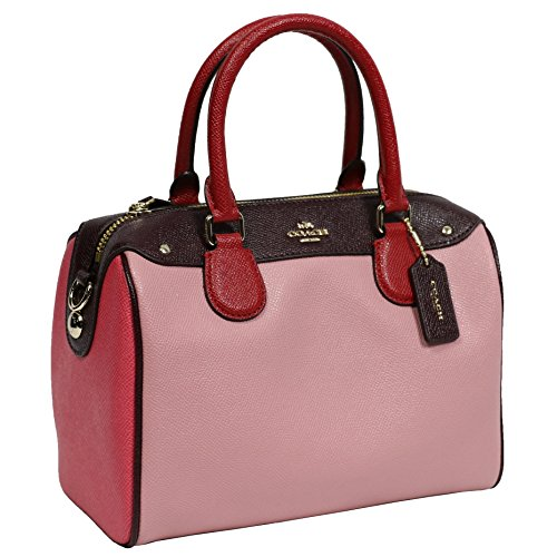 Coach Leather Handbag Bag Multicolor Strawberry Pink by Coach