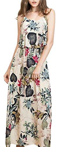 Floral Loose Waist Strap Spaghetti Jaycargogo 1 Accept Print Sexy Women Dresses xqXtPwg8Y