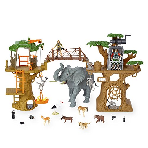 Animal Planet Safari Treehouse Playset on animal safari wildlife, fisher-price farm animal set, farm animal safari set, animal planet wildlife tree house bridge, animal planet wildlife family, lego wildlife set, ocean sea animal set, animal planet wildlife game, jurassic park toy set, animal toys,