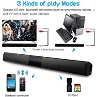 FidgetFidget Bluetooth Subwoofer TV Home Theater Soundbar Sound Bar Speaker System RCA Cable