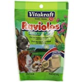 Vitakraft Raviolos Crunchy Treat for Pet Rabbits, Guinea Pigs and Hamsters, 5-Ounce Pouch