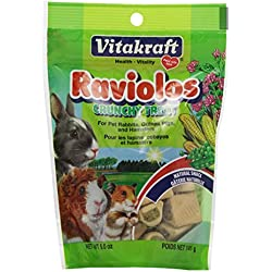 Vitakraft Raviolos Crunchy Treat for Pet Rabbits, Guinea Pigs & Hamsters, 5 Ounce Pouch