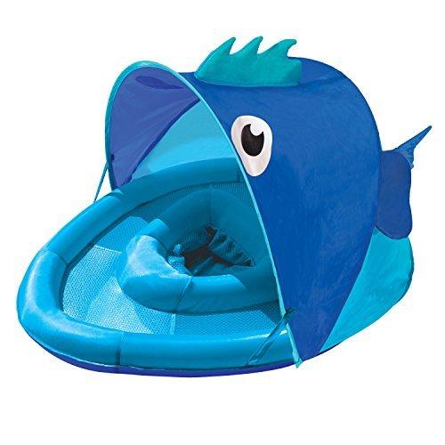 Swim School- Confidence Building System Fish Sun Shade Baby Float