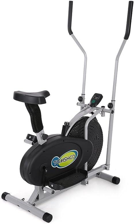 TOMSHOO elíptica Bicicleta elíptica 2 en 1 Ventilador para ...