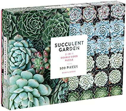Amazon Com Galison Succulent Garden 500 Piece Double Sided Jigsaw
