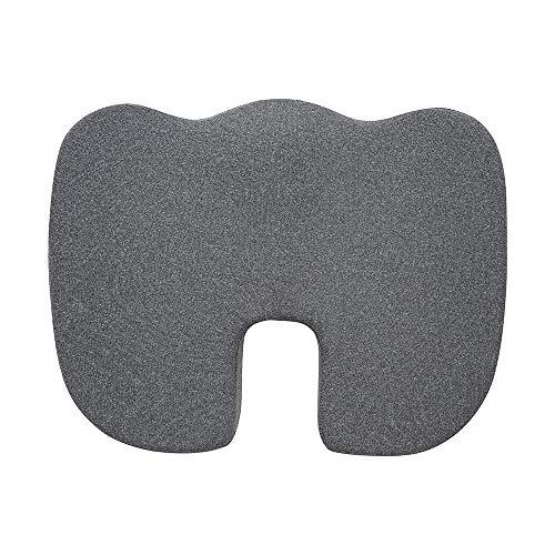 Amazon Basics Memory Foam Seat Cushion – Gray, U-Shape