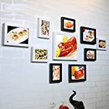 SX-ZZJ photo wall Hotel Lobster Crab Seafood Gourmet Wall Decoration Painting Wood Photo Frame Creative Combination Photo Wall Paintings (Color : B)
