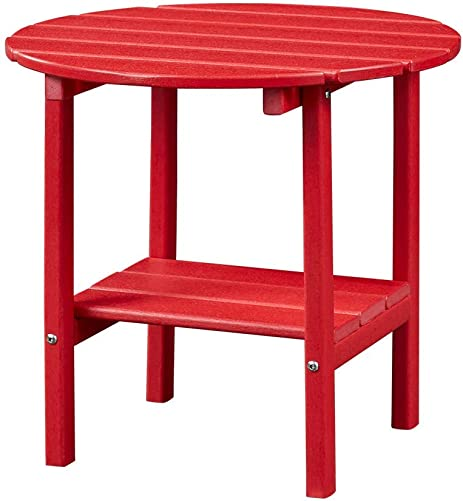 Ehomepert Outdoor Side Table-Adirondack Portable Rectangular End Table