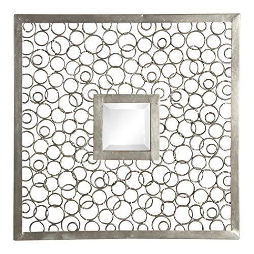 Uttermost Colusa Metal Framed Squares - Antique Silver - 20x20x1.25