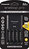 Panasonic K-KJ75KHC4BA Advanced Battery Charger with USB Charging Port and 4AA Eneloop Pro High Capacity Rechargeable Batteries