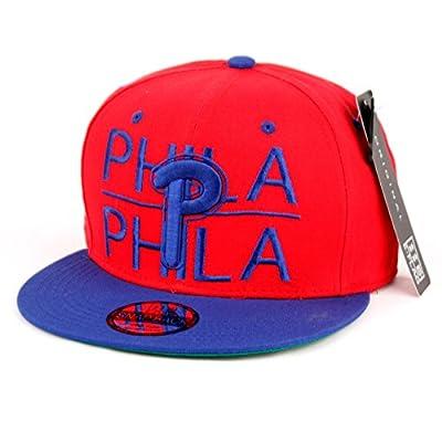 Philladelphia Block Letters Flat Bill SnapBack Cap Hat Snap Back