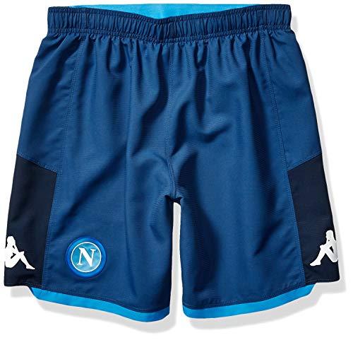 Ssc Napoli Italian Serie A Men's Goalkeeper Match Shorts, Blue, L