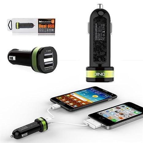 First2savvv verde DL-C21 doble puerto USB cargador de viaje ...