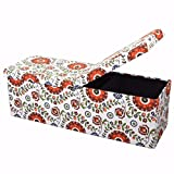 Otto & Ben 45″ Storage Ottoman Folding Toy Box Chest with Smart Lift Top Mid Century Upholstered Bench Foot Rest, Retro Floral Review