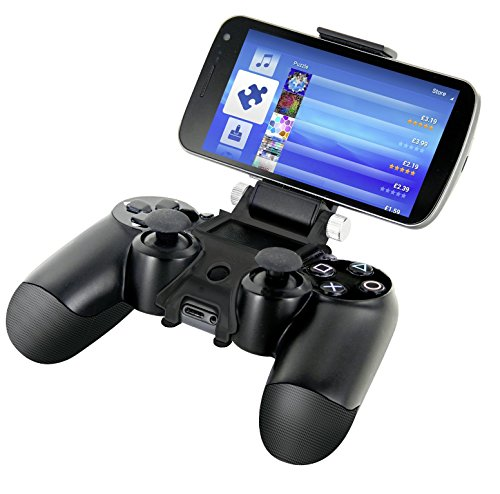 Price comparison product image Nyko Smart Clip – PlayStation DualShock 4 Controller Clip On Mount for Android Phones, Samsung Galaxy, S7, S6, Edge, Note 5, HTC One, Sony Xperia, Max Clamp 6 Inches