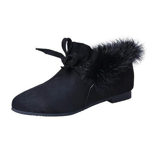 Zapatos Planos De Mujer Mocasines De Invierno Guisantes Zapatos De Piel De Estudiante De Fondo Plano MáS Terciopelo CáLido AlgodóN SeñOras CuñAs Bajas ...