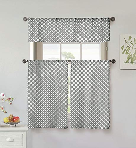 Home Maison Moana Kitchen Curtains, Grey - Maison Grey Rug