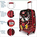 Humty Dumty Disney Mickey Mouse Red Polycarbonate 22 Inch / 55.8 cm Kids Hard Luggage Trolley Bag | Travel Bag