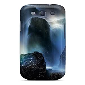 Excellent Design Rainbow At The Bottom Of A Waterfall Case Cover For Galaxy S3