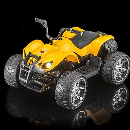 SUPERtrax ATV MX750 Kid's Ride On Electric Car w/Free MP3 Player - Yellow