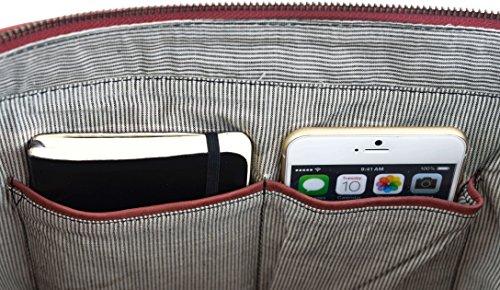 Stile L'' 3 Leder Tracolla ''Sunny alla Pratica Vera a 29 Comoda Gusti chiaro Cuoio Shopping Borsetta Shopper studio Vintage Moda Pelle rosso 2H49 Z0twxWqFqB