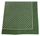 Tobeni 548 bandana neckerchief in 100 cotton for men and women, Color:Little Dot Green;Size:54 cm x 54 cm