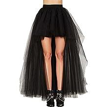 Oliveya Womens Vintage Petticoat Tulle Skirt Ballet Bubble Tutu Multi-Colored