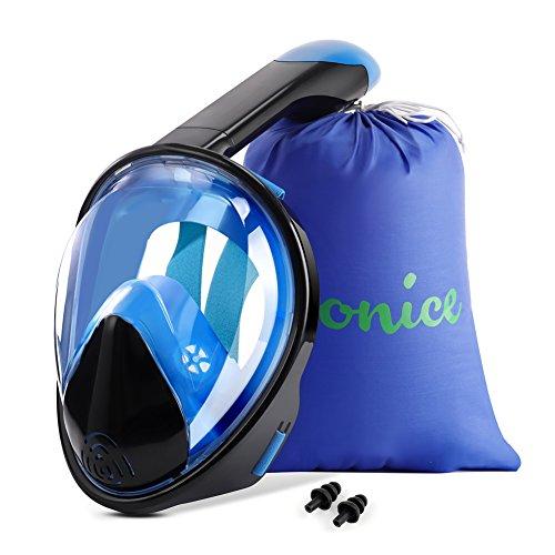 WONICE Snorkel Mask Full