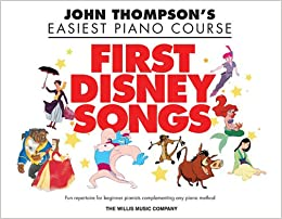Thompson John Easiest Piano Course First Disney Songs Easy Pf Bk