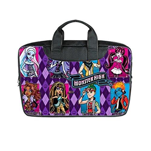 Custom Monster High Laptop Bag Case Cover Bag Water Resistant For Laptop 15