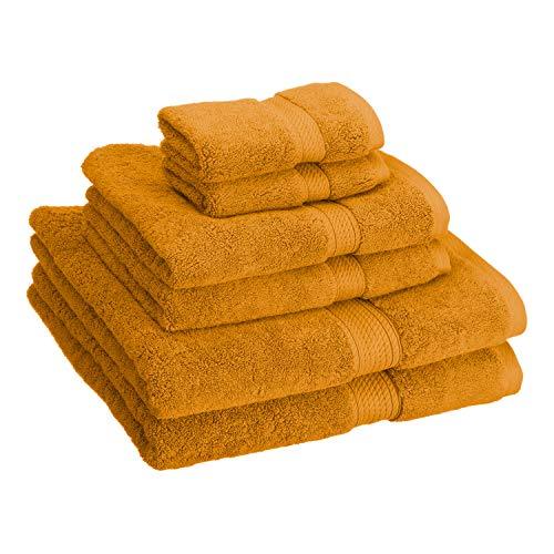 Superior Luxury Cotton Bath Towel Set - 6 Piece Towel Set, 900 GSM, Long-Staple Combed Cotton Towels, Rust