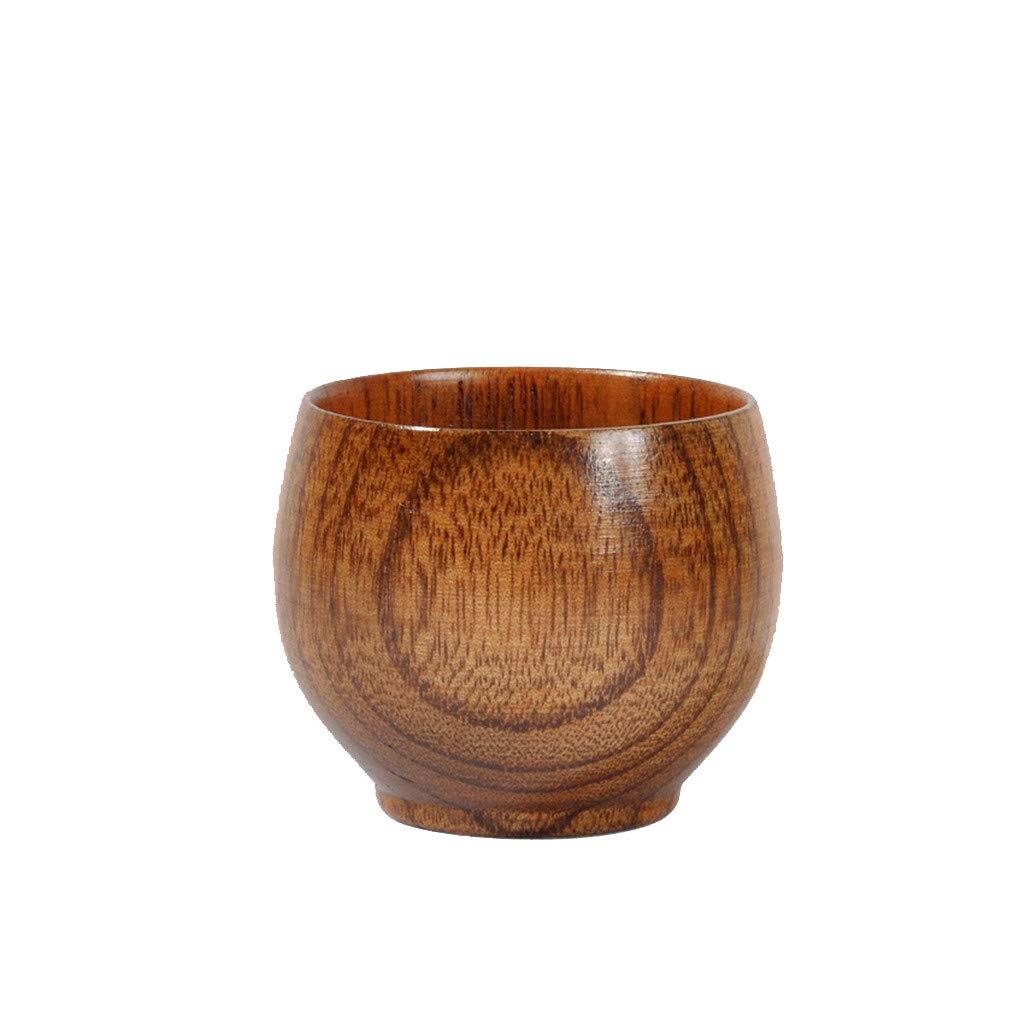 Wooden Tea Cups Top Grade Natural Solid Wood Tea Cup,Efaster Wooden Teacups Coffee Mug Wine Mug for drinking Tea Coffee Wine Beer Hot Drinks,Primitive Handmade Natural (Brown)