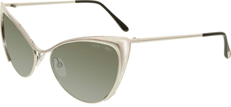 395c92aa9477 Amazon.com: Tom Ford Sunglasses - Nastasya / Frame: Shiny Palladium Lens:  Smoke Mirror: Tom Ford: Clothing