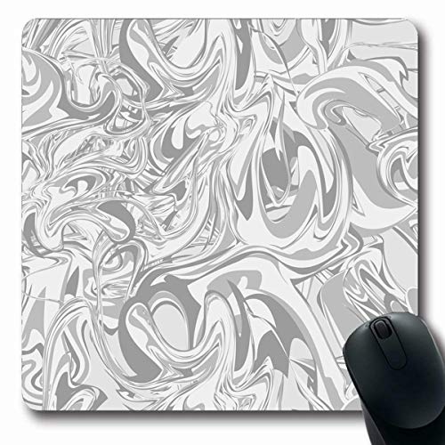 Tobesonne Mousepads Wall Simple Marbl Hand in Marbling Technique Color Abstract Pattern Watercolor Agate Antique Aquatic Oblong Shape 7.9 x 9.5 Inches Non-Slip Gaming Mouse Pad Rubber Oblong Mat ()