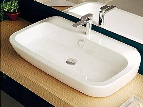 Lavandini Da Bagno Da Appoggio : Teuco nauha lavabo in ceramica da appoggio o sospeso cm con
