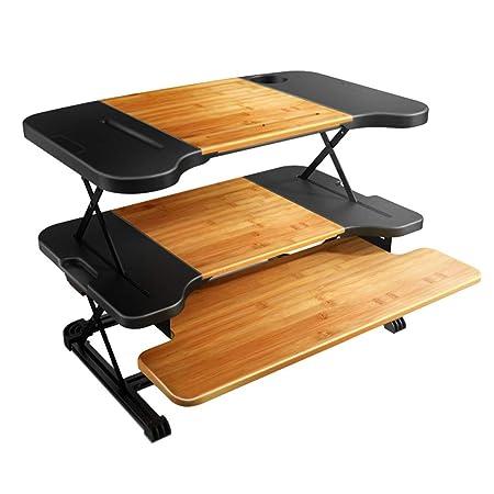 Mesas para ordenador De Pie Desk Tres Pisos Escritorio Derecho ...