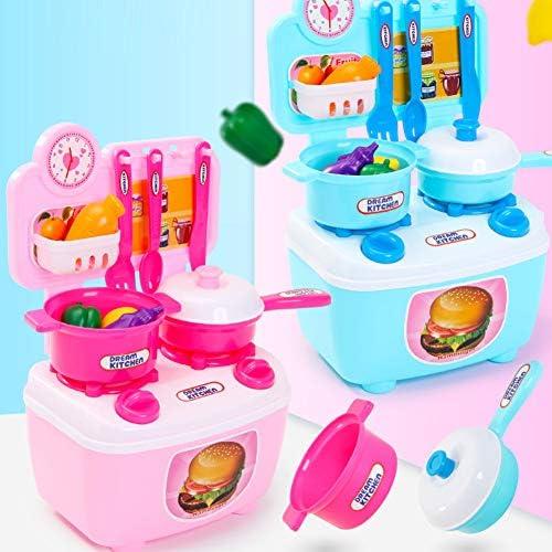 Rollenspiel Lernspielzeug Spielset, Kinder Rollenspiel Küche Kochgeschirr Besteck Geschirr Kinder Lernspielzeug Zufällige Farbe