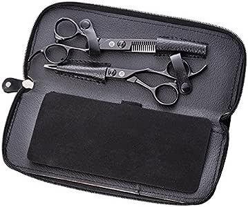 Saki Katana - Kit de tijeras de peluqueria/barbero profesional japonesas para cortar, entresacar, degrafilar el cabello/pelo